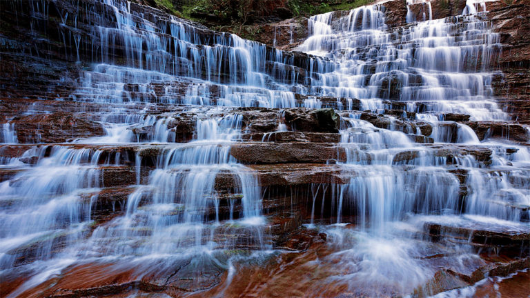 essays on waterfalls The landform i have chosen is a waterfall a waterfall is a steep fall of water along a river examples: powerscourt, co wicklow / angel falls, venezuela a waterfall results from river erosion and is found in the upper course of a river.
