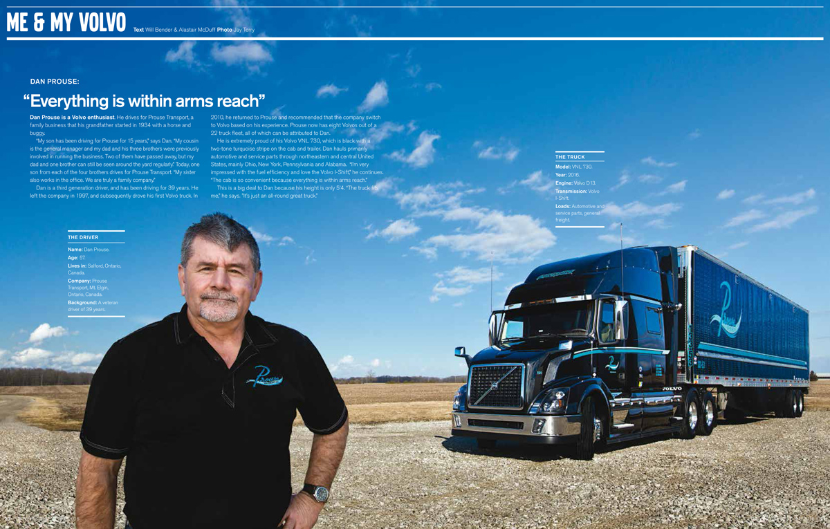 Drivers Digest | Volvo Trucks | Prouse Transport | March 2016 Issue