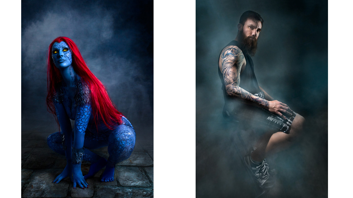 Cosplay Raven Mystique | Tattoo Portraits